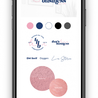 iPhone mockup of THB Canva Style Guide as part of brand clarity series